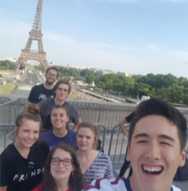 The Sustainability Squad in front of the Eifel Tower