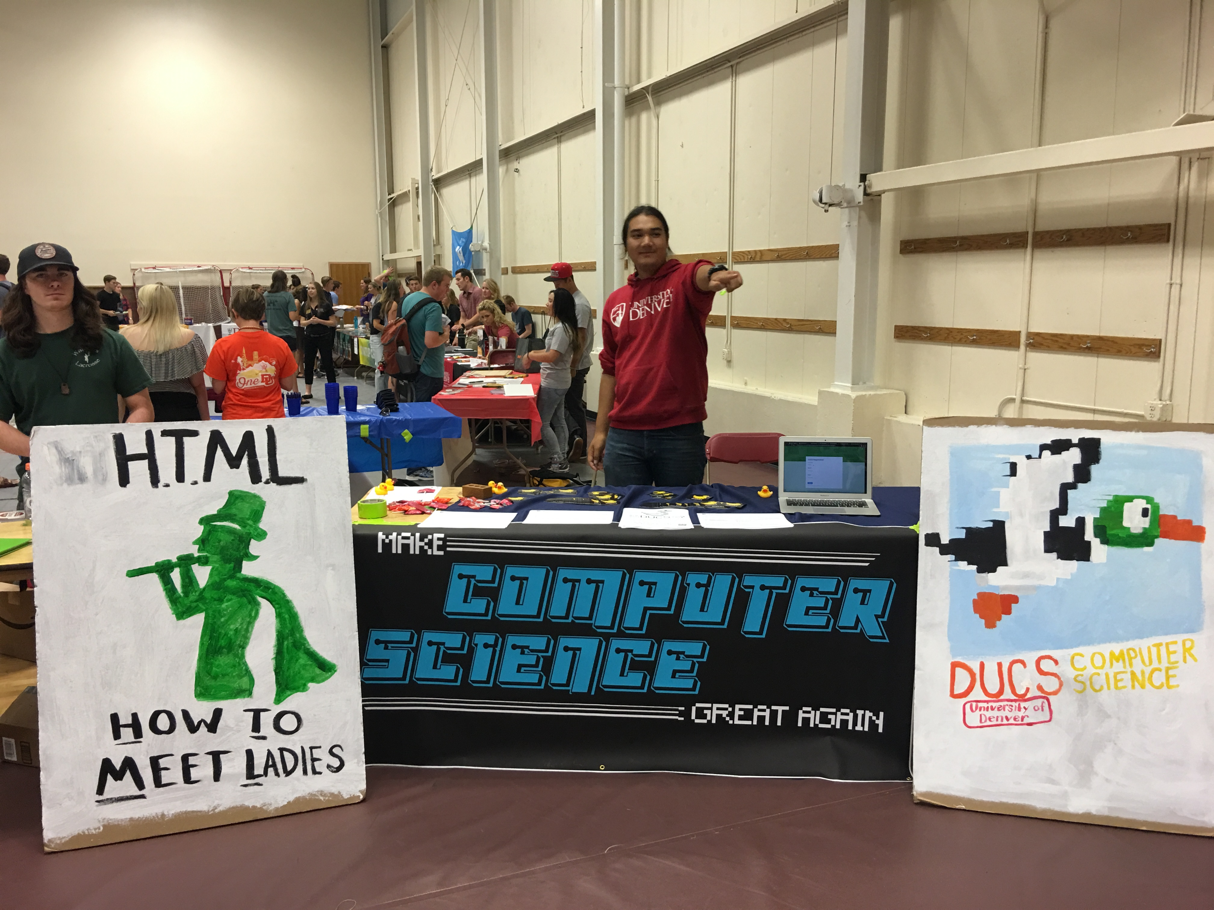DU Computer Science Club table