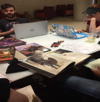 Dungeons and Dragons Club playing